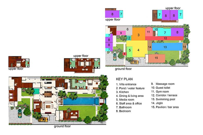 Villa Lilibel Bali Family Villas Amazing Bali 4 Bedroom Villa Plans